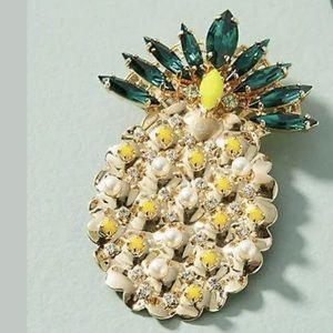 New Anthropologie Anton Heunis Pineapple Brooch